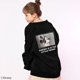 【Disney(ディズニー)/ミニーマウス】MA-1ジャケット