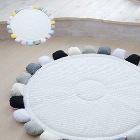 サニーマット ベビー ラグマット 【リバーシブル】 月齢フォト ごろ寝アート 寝相アート よちよちマット プレイマット ベビーマット 円形 はいはい 赤ちゃん 出産祝い プレゼント ギフト