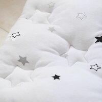 スリーピングバック星柄寝袋スリーパーおくるみお出かけシュラフ耳付き抱っこ布団