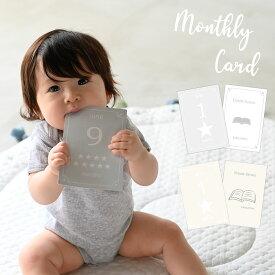 月齢&未来カード 収納袋付き 月齢 選び取り カード 1歳 フォト 昼寝アート マンスリー 記念日 お祝い 誕生日 おしゃれ かわいい