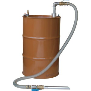 APDQS-32 大容量 吐出専用 ドラム缶用 セパレート型 エアバキュームポンプ アルミ製 オイル/油用 APDQS32
