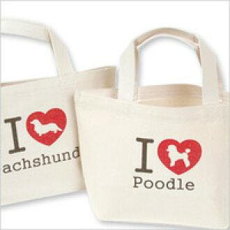 Original DOG シルエットトート poodle / gadgets / bag / bag / bag / toy / dogs / dog