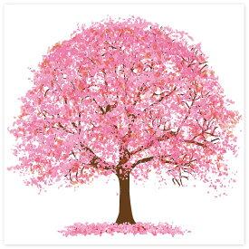 ウォールタペストリー 桜 春POP お花見・さくら  CM1-0318 トロピカル H120×W120cm