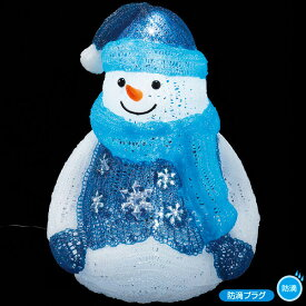 LEDクリスタルモチーフ (ファンシースノーマン) クリスマスデコレーション イルミネーションライト  TX5-0019  H48×W36×D29cm