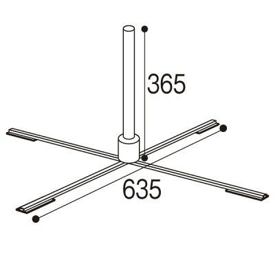 のぼり旗設置用台|ポールスタンド折りたたみ式(置据型)