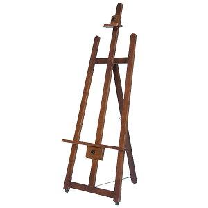 【時間指定不可】【代引き不可】フロントイーゼル(T−140) H1420×W600×D557mm 木製ブラウン塗装ラッカー仕上げ【1台入】
