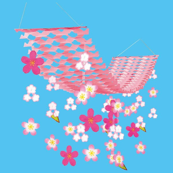 桜(さくら)吊り装飾ディズプレイ(飾り) | バリュー舞い桜プリーツハンガー