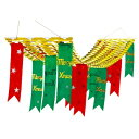 MXペナントプリーツハンガー クリスマハンガー(Xmas吊り装飾用)