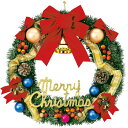 60cmゴールドリボンリース|クリスマスリース(Xmasリース)