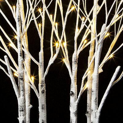 LEDホワイトブランチスタンド クリスマス(Xmas)イルミネーション・照明演出