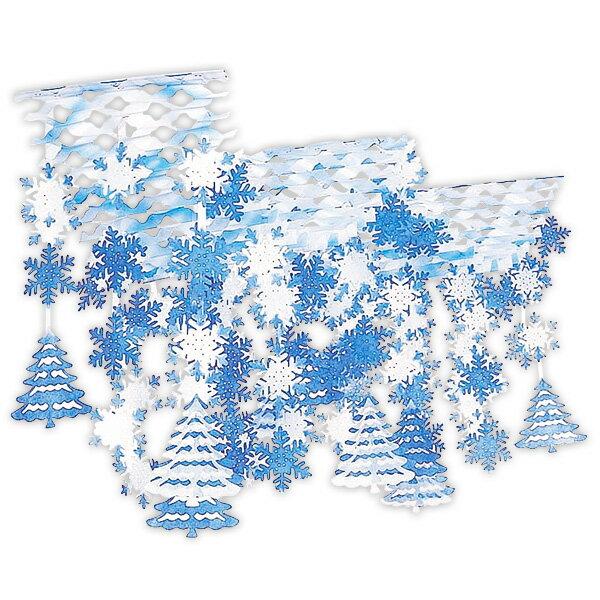 樹氷スノー2連プリーツハンガー|冬の吊り装飾