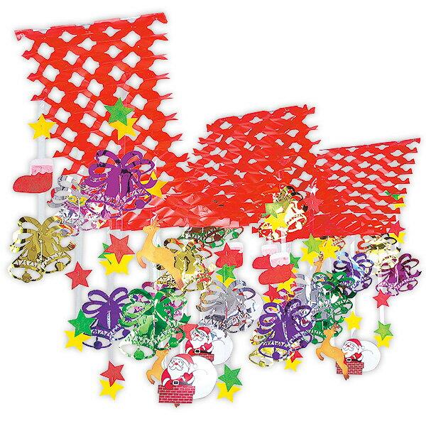 クリスマスベル2連プリーツハンガー|Xmasの吊り装飾