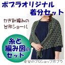 【リッチモア】【着分パック】かぎ針編みの台形ショール【春夏】【中級者】【編み図付】【編み物キット】