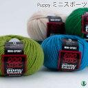 毛糸 ポイント7倍 極太 パピー ミニスポーツ 色番420〜700 毛・メリノ 101 在庫商品