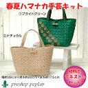 編み物 KIT ハマナカ H364-715 スクエア模様のかごバッグ 1セット 春夏 バッグ【取寄商品】