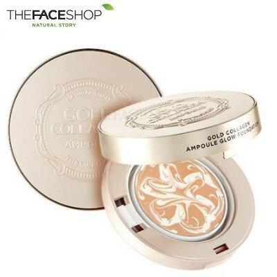 THE FACE SHOP ザ フェイスショップ ゴールド コラーゲン アンプル グロウ ファンデーション 10g SPF50+/PA+++ メイクアップ ファンデーション
