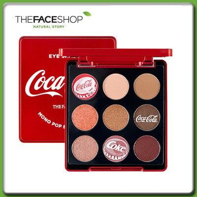 【ゆうパケット対応】THE FACE SHOP ザ フェイスショップ モノポップ アイズ コークレッド 5.4g コカ・コーラ コラボエディション メイクアップ アイシャドウ