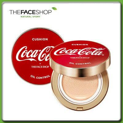 THE FACE SHOP ザ フェイスショップ オイル コントロール ウォーター クッション 15gSPF50+/PA+++コカ・コーラ コラボエディション メイクアップ ファンデーション