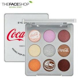 【ゆうパケット対応】THE FACE SHOP ザ フェイスショップ モノポップ アイズ コークシルバー 5.4g コカ・コーラ コラボエディション メイクアップ アイシャドウ