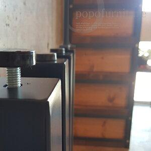 【当工房生産/日本製】アイアン 鉄脚 角脚 テーブル リメイク用 DIY パーツ 支柱太さ□60mm 長さ680mm アジャスター付 4本セット (鉄足 てつあし/アイアンレッグ/アイアン脚/ダイニングテーブル