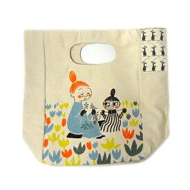 ムーミン ハンドルランチバッグ お花つみ日和 moomin バッグ バック 鞄 手提げ 手さげ お弁当袋 送料込み メール便配送 11057