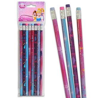 可迪士尼公主铅笔8条装11707 Disney公主铅笔铅笔笔记用具文具yuu分组