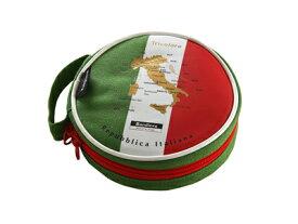 Bandiera(バンディエラ) ラウンドポーチ イタリア 11758 ポーチ ケース 丸型ポーチ イタリア国旗 Repubblica Italiana ITALY ヨーロッパ