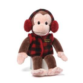 【店内ポイント5倍】おさるのジョージ(キュリアスジョージ) ぬいぐるみ 耳あて 11787 Curious George 人形 フィギュア おもちゃ メール便不可