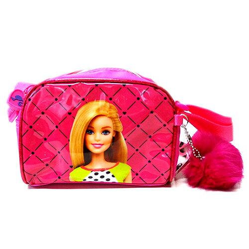バービー Barbie ポシェット 12445 ショルダーバッグ 女の子 子供用 鞄 かばん バッグ ファー ポンポン かわいい キャラクター グッズ インポート メール便不可