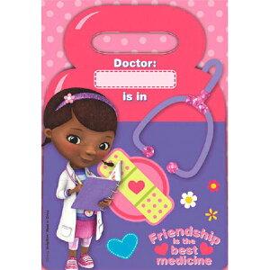 ディズニー ビニール袋 ドックはおもちゃドクター 8枚入り メール便配送 ビニールバッグ Doc Mcstuff ピンク Disney おみやげ袋 ギフトバッグ プレゼント 誕生日 海外 輸入 13122