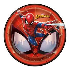 スパイダーマン ペーパープレート 8枚入り メール便不可 SPIDER-MAN 紙皿 皿 お皿 パーティーグッズ お誕生日会 バースデー MARVEL キャラクターグッズ 13267