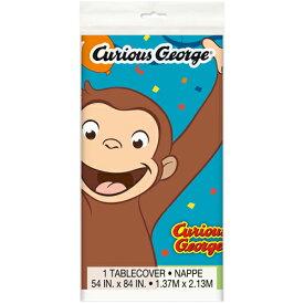 おさるのジョージ テーブルクロス メール便配送 UNIQUE キュリアスジョージ テーブルカバー パーティー Curious George 誕生日 誕生日会 装飾 テーブルコーディネート デコレーション キャラクター 雑貨 グッズ 13271