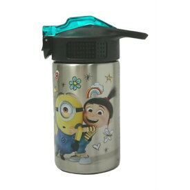 ZAK DESIGN ミニオン ステンレス ストローボトル  13507 水筒 ステンレス ストロー 子供 子供用 キッズ 保冷 キャラクター グッズ メール便不可
