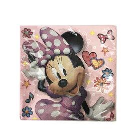 ミニー ペーパーナプキン (L) 16枚入り 14439 ナプキン 使い捨て デコパージュ ハンドメイド パーティー 誕生日 Disney ディズニー minnie ミニーちゃん パーティーグッズ かわいい 女の子 インテリア 飾り付け 輸入品 インポート メール便配送