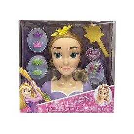 ディズニープリンセス ラプンツェル スタイリングヘッド ヘアアレンジ おもちゃ 人形 ドール ヘアブラシ ゴム メール便不可 12987
