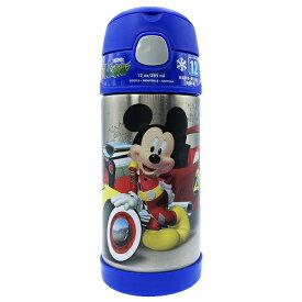 【店内ポイント5倍】ミッキーマウス 水筒 サーモス ストローボトル ブルー 13652 THERMOS 保冷 ステンレス すいとう 青 ディズニー Disney ミッキー Mickey フックハンドル 子供 子ども こども キッズ 男の子 女の子 キャラクター グッズ メール便不可