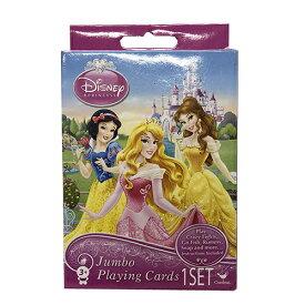 ディズニープリンセス ジャンボ トランプ カード 13719 大きい かわいい おしゃれ カード ゲーム 輸入 インポート プレゼント 景品 ピンク メール便配送
