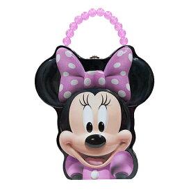 ミニー ダイカット 缶 ボックス 13769 Minnie おしゃれ ディズニー 小物入れ BOX ケース バッグ バック 鞄 かばん ピンク ビーズ キッズ Disney 子ども 女の子 ドット 水玉 キャラクター 雑貨 グッズ インポート メール便不可