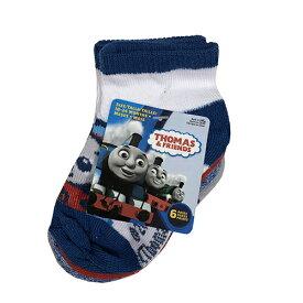 トーマス ベビー 靴下 6P セット 9-12cm 13774c Thomas グッズ ベビー キッズ 子供 子ども 赤ちゃん 男の子 のりもの キャラクター きかんしゃトーマス ソックス 輸入品 インポート メール便不可