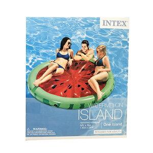 INTEX インテックス フロート マット アイランド (スイカ) 13927 プールフロート かわいい 浮き輪 浮輪 うきわ 大人用 大きい 大型 プール 海 おしゃれ おもしろ SNS インスタ映え アメリカ 雑貨