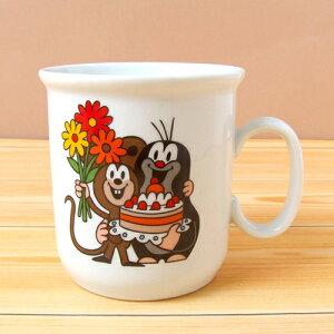 クルテク マグカップ S ( ケーキ ) PCL5182001 pud486 KRTEK Thun社 食器 チェコ もぐらのクルテク 小さめサイズ♪ おしゃれ かわいい プレゼント キャラクター 雑貨 グッズ