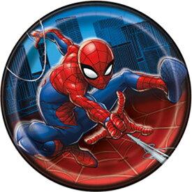 スパイダーマン ペーパープレート (S) 8枚入り 15115 紙皿 使い捨て プレート パーティー 誕生日 Disney MARVEL ディズニー パーティーグッズ かっこいい 男の子 インテリア 飾り付け 輸入品 インポート メール便配送