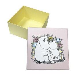 ムーミン ギフトボックス (ムーミン&フローレン) 9045 ラッピング ギフト MB821 ボックス ピンク イエロー かわいい 小物収納 収納 クラフトボックス 花柄 BOX 日本製 プレゼント メール便不可