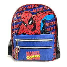スパイダーマン リュック ( ブルー ポケット) 15278 バッグ バックパック 10L 青 キッズ 小学生 中学生 高校生 男の子 かっこいい アメコミ キャラクター アイアンマン キャプテンアメリカ MARVEL COMICS マーベル SPNG5052