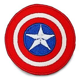 ワッペン ( キャプテンアメリカ 盾 シールド ) 15475 キャラクター グッズ アップリケ パッチ 刺繍 アイロン 手芸 手作り ハンドメイド 子供 キッズ マーベル MARVEL 男の子 女の子 入園準備 入学準備 輸入 The Avengers Captain America Civil War Shield
