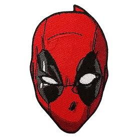 ワッペン ( デッドプール ) 15484 キャラクター グッズ マーベル デップー アップリケ パッチ 大きめ 刺繍 アイロン 手芸 手作り ハンドメイド 子供 キッズ 大人 男の子 女の子 入園準備 入学準備 輸入 Marvel Comics Deadpool's Head Iron on Applique Patch