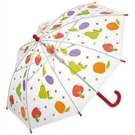 はらぺこあおむし 雨具 キッズ ビニール傘 40センチ 15514 手開き 安全 雨傘 かさ 軽量 おなまえ札付き グラスファイバー 総柄 幼児 男女兼用 2歳 3歳 未就園児 キャラクター グッズ 雑貨 入園