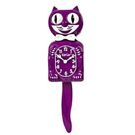 キットキャットクロック (ボイセンベリー) KITCAT-BC49 Kit-Cat klock パープル 紫 猫 ねこ 限定 蝶ネクタイ 掛け時計 掛時計 時計 インテリア 雑貨 グッズ おしゃれ おもしろ デザイン モチーフ かわいい アメリカ MADE IN U.S.A Limited Edition Boysenberry pud673