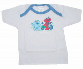 セサミストリート ベビーTシャツ ブルー 送料無料 メール便配送【ds】