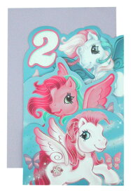 マイリトルポニー バースデーカード 2歳 dscn0246 My Little Pony セカンドバースデーカード 誕生日カード 誕生日 Birthday インポート 輸入 グッズ かわいい キャラクター 送料無料 メール便配送【ds】